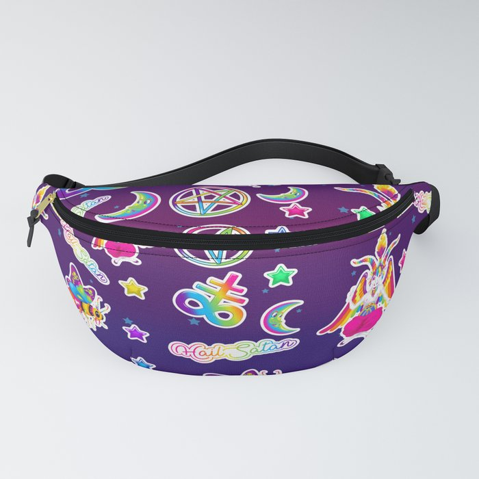 1997 Neon Rainbow Occult Sticker Collection Fanny Pack