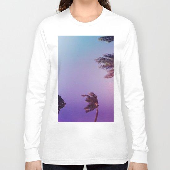 Under tall Palm trees Long Sleeve T-shirt