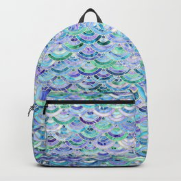Marble Mosaic in Sapphire and Emerald Backpack