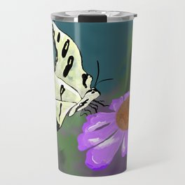 Butterfly and flower Travel Mug