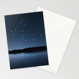 Draco star constellation, Night sky, Cluster of stars, Deep space, Dragonconstellation Stationery Cards