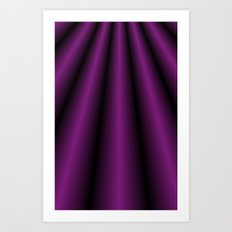 Purple Satin Gown Art Print
