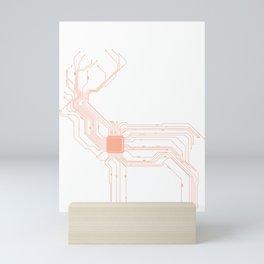 Computer Scientist CPU Deer Gift for natur lover Mini Art Print