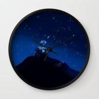 wall e Wall Clocks featuring Wall-e by KanaHyde