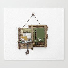 Fragmented Cabin Study in 1:10 Scale Canvas Print