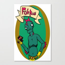 Fish Man Canvas Print