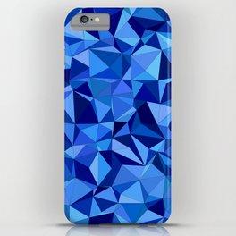 Blue tile mosaic iPhone Case