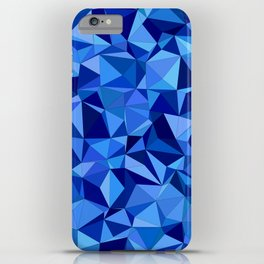 Blue tile mosaic iPhone Case