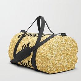 Gold Classy as fuck Duffle Bag