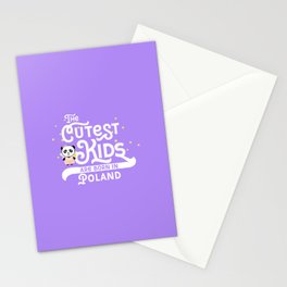Cutest Kids Panda born in Poland T-Shirt Stationery Cards