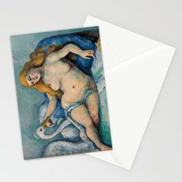 Leda and the Swan, Paul Cezanne, 1880 Stationery Cards