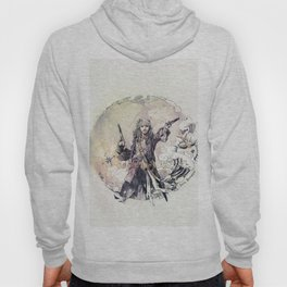 Jack Sparrow with double pistols Hoody