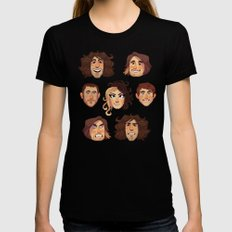 Game Grumps Pattern New Black SMALL Womens Fitted Tee