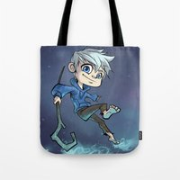 jack Tote Bags featuring Jack by Meekobits