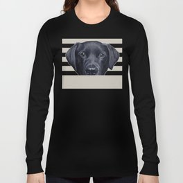Labrador with white background Dog illustration original painting print Long Sleeve T-shirt