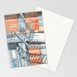 Stairs in Nolita Stationery Cards