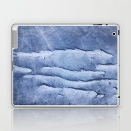 Blue abstract watercolor Laptop & iPad Skin