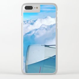 Lufthansa Flight from Munich to LAX, November 2017 Clear iPhone Case