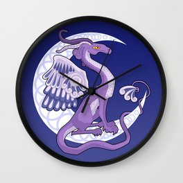 Vendel Dragon - the moon Wall Clock