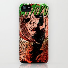 Mastodon Live in Berlin in Green and Red iPhone Case