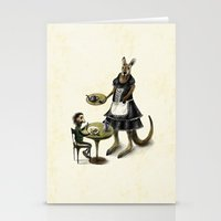 cafe Stationery Cards featuring Kangaroo cafe by Anna Shell