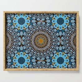 Calligraphic Boho (Blue) Serving Tray