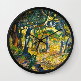 """Henri-Edmond Cross """"Clearing in Provence (study for """"The Clearing"""")"""" Wall Clock"""