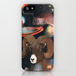 Aries - Zodiac Wildlife Series iPhone Case