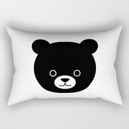 Bear black cute kawaii baby animal Rectangular Pillow