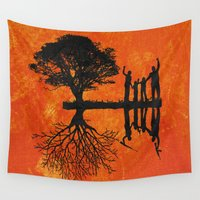 family Wall Tapestries featuring Family by Last Call