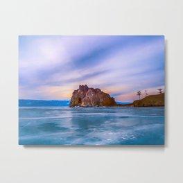 Shaman Rock, lake Baikal Metal Print