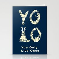 yolo Stationery Cards featuring YOLO by Coffee Man