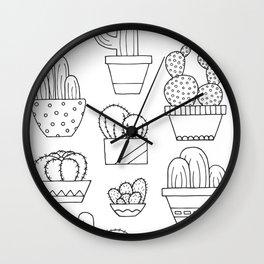 Little Cacti Wall Clock