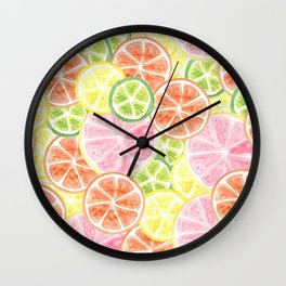 Citrus Time Wall Clock
