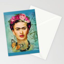 FRIDA Y MARIPOSA Stationery Cards