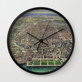 Chicago - Illinois - 1916 Wall Clock