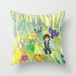 Hansel and Gretel Escape Throw Pillow