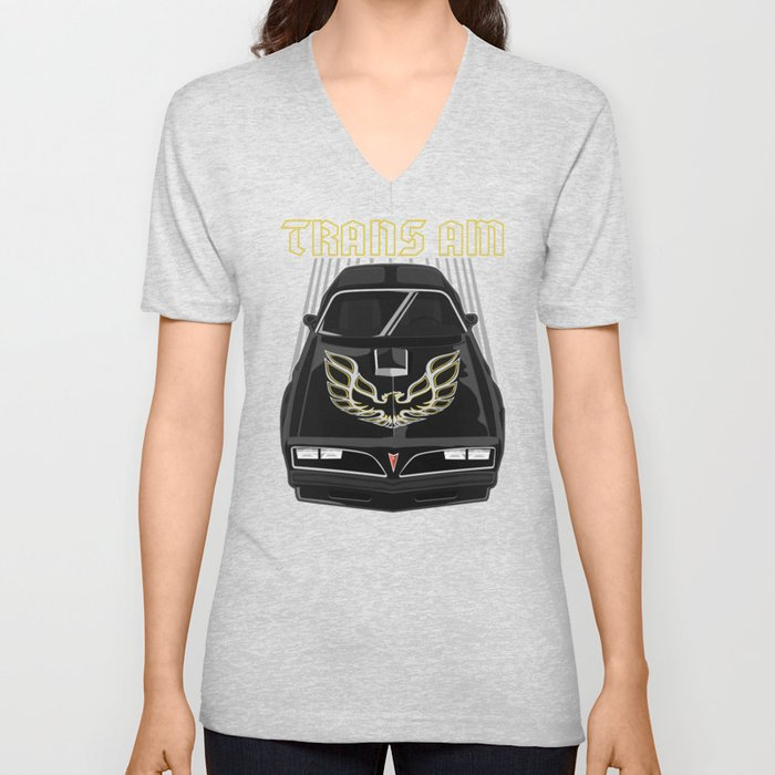 b9b897f5 Pontiac Firebird Trans Am 77-78 - Black and Gold Unisex V-Neck by ...