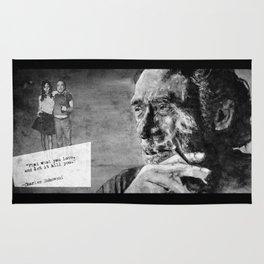 Charles Bukowski - love version - black Rug