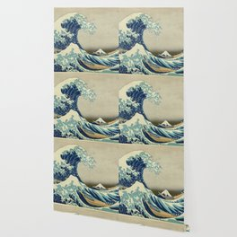 Katsushika Hokusai -The Great Wave off Kanagawa Wallpaper