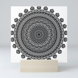 Mandala Black&White Mini Art Print