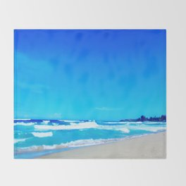 Carribean Coast Throw Blanket