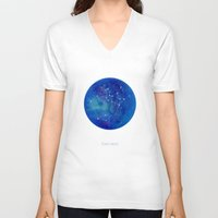 constellation V-neck T-shirts featuring Constellation Sagittarius  by ShaMiLa