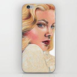 Blonde beauty iPhone Skin