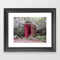 Privy to the Midwest Framed Art Print