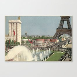 International Arts and Techniques in Modern Life exhibition (Paris, 1937); Trocadero and fountains Canvas Print