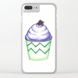 dot cupcakes (pointillism) Clear iPhone Case