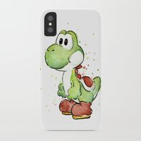 yoshi iPhone & iPod Cases featuring Yoshi by Olechka
