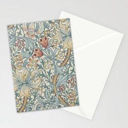 William Morris Vintage Golden Lily Soft Slate & Manilla Stationery Cards