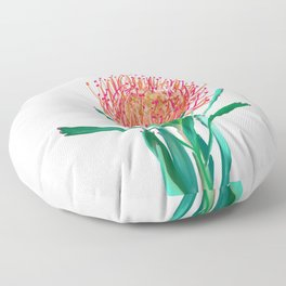 Pincushion protea flower Floor Pillow